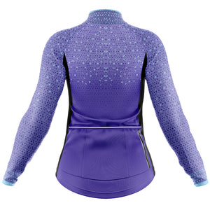 Women's Purple Kaleidoscope Windproof Jersey
