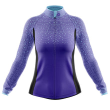 Load image into Gallery viewer, Women's Purple Kaleidoscope Windproof Jersey