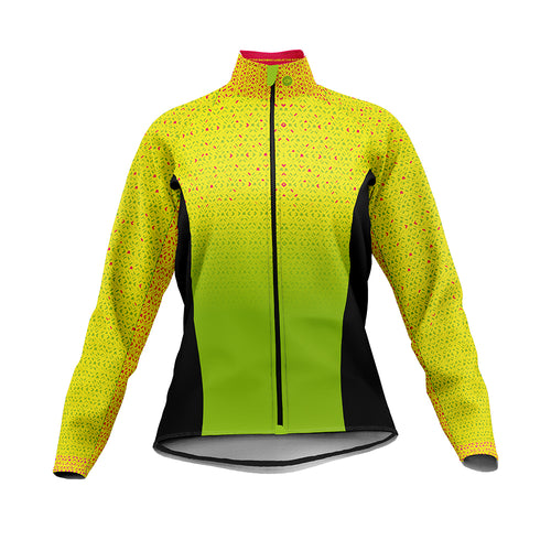 Women's Hi Vis Kaleidoscope Cycling Jacket