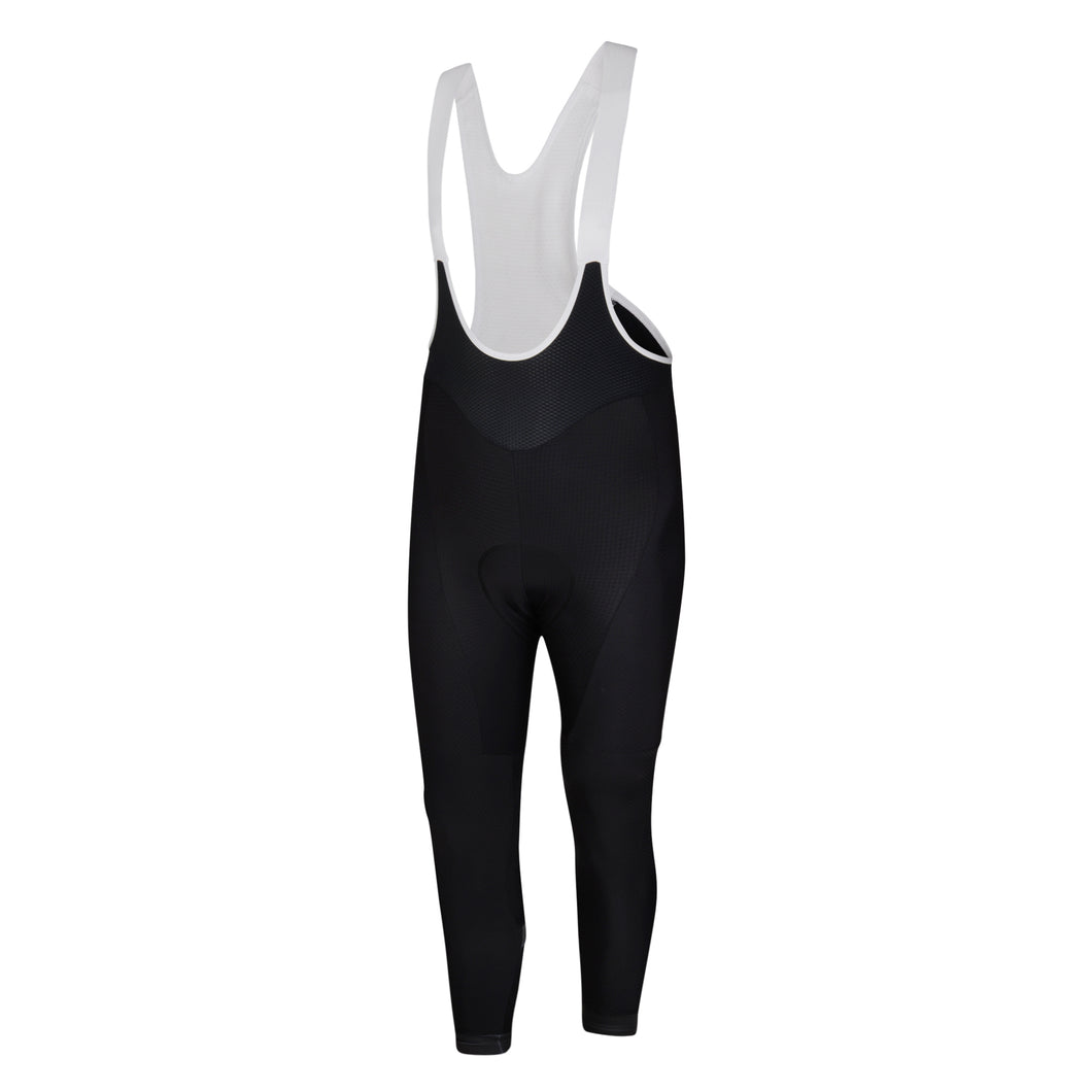 Mens Black Stealth Jewel Reflective Thermal Padded Cycling Bib Tights