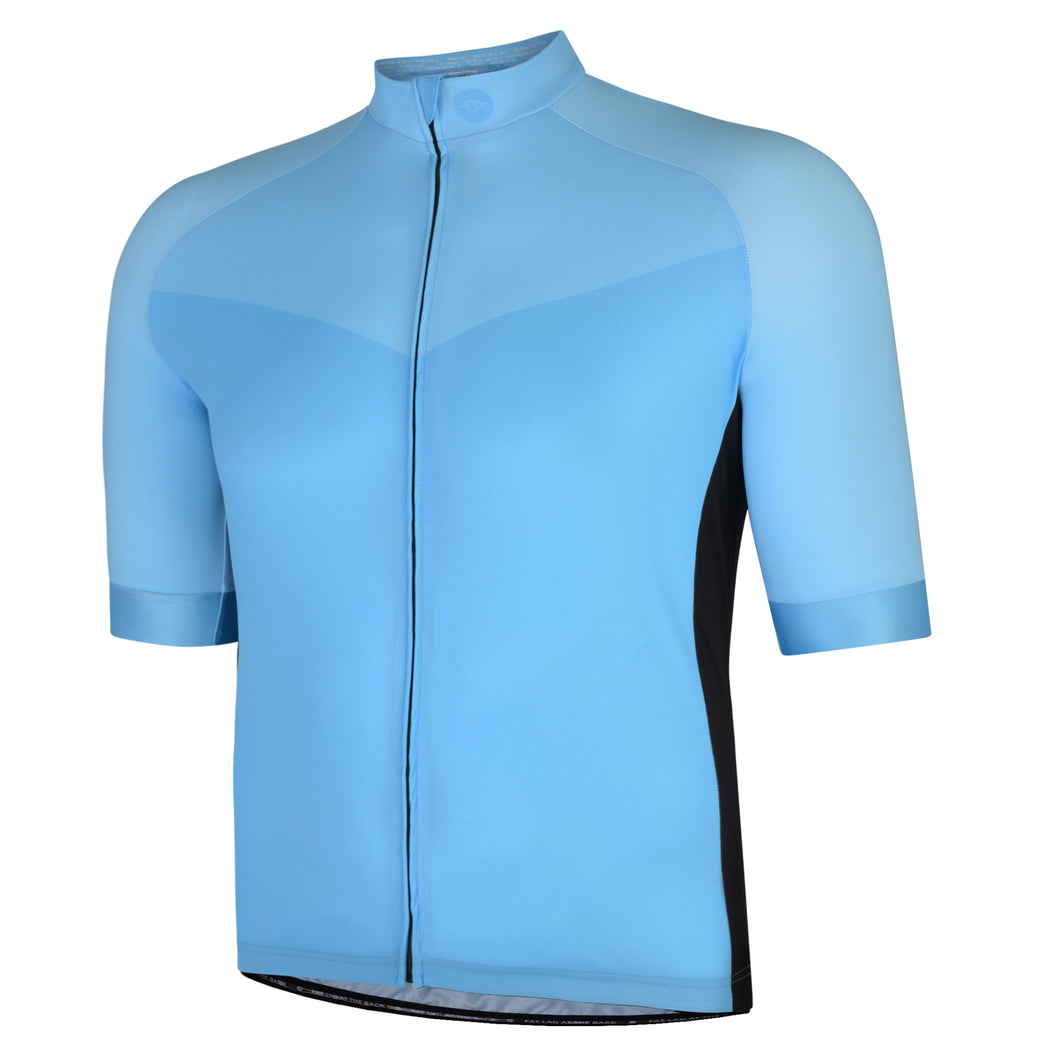 Big and Tall Mens Blue Stealth Cycling Jersey