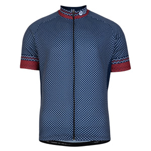 Mens Red/Blue Cross Cycling Jersey
