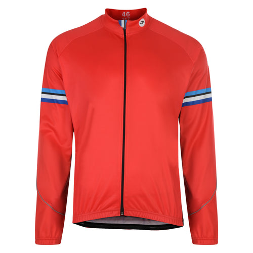 Mens Stealth Red Windproof Cycling Jersey