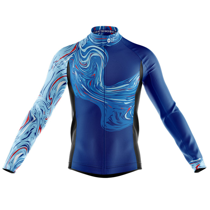 Big and Tall Mens Marbleous Windproof Cycling Jersey