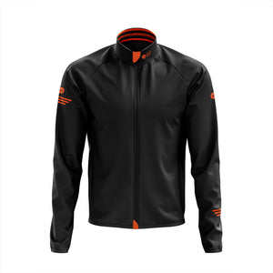 Mens Black Cycling Winter Jacket