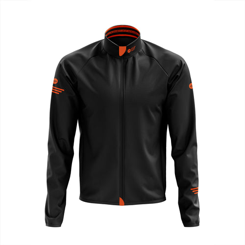 Big and Tall Mens Black Winter Cycling Jacket