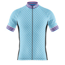 Load image into Gallery viewer, Big and Tall Mens Blue Herring Cycling Jersey