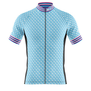 Big and Tall Mens Blue Herring Cycling Jersey