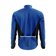Load image into Gallery viewer, Mens Blue Cycling Winter Jacket
