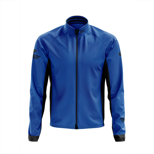 Big and Tall Mens Blue Winter Cycling Jacket