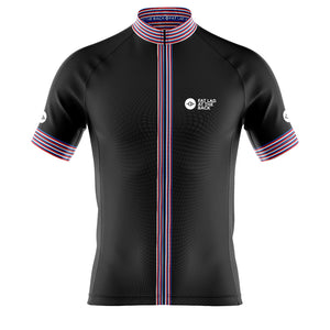 Big and Tall Mens Black Classic 2020 Cycling Jersey