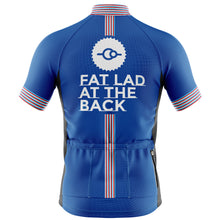 Load image into Gallery viewer, Big and Tall Mens Blue Classic Cycling Jersey