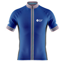 Load image into Gallery viewer, Big and Tall Mens Cove Cycling Jersey in Classic Blue