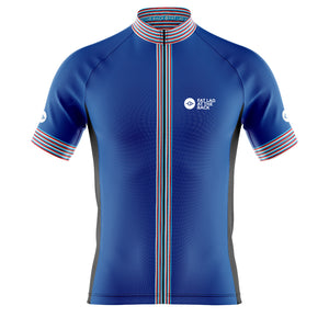 Big and Tall Mens Cove Cycling Jersey in Classic Blue