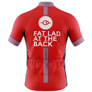Big and Tall Mens Cove Cycling Jersey in Classic Red