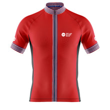 Load image into Gallery viewer, Big and Tall Mens Red Classic Cycling Jersey