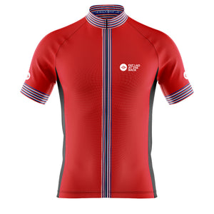 Big and Tall Mens Red Classic 2020 Cycling Jersey