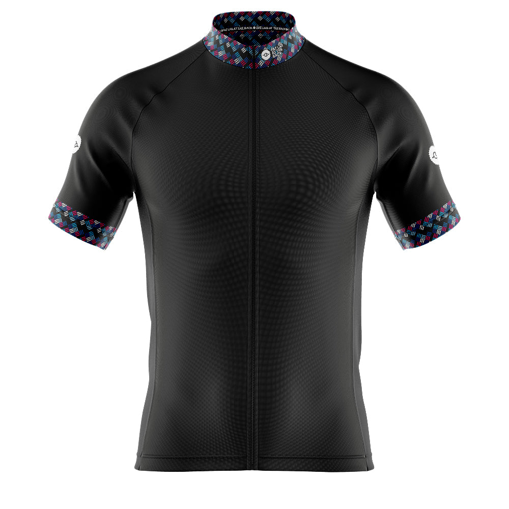 Mens Black Funky Cycling Jersey