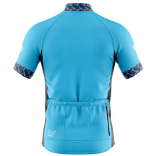 Load image into Gallery viewer, Mens Blue Funky Cycling Jersey