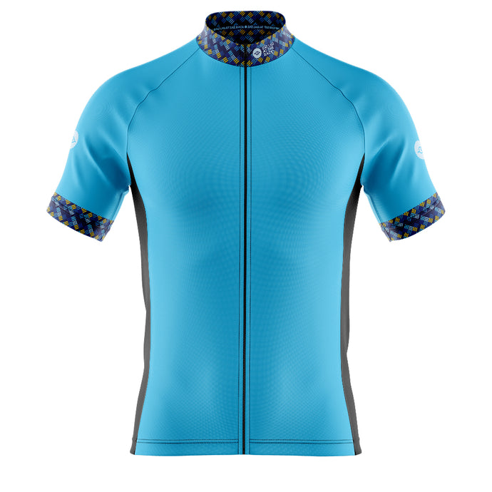 Big and Tall Mens Blue Funky Cycling Jersey