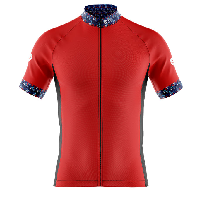 Mens Cove Cycling Jersey in Funky Red