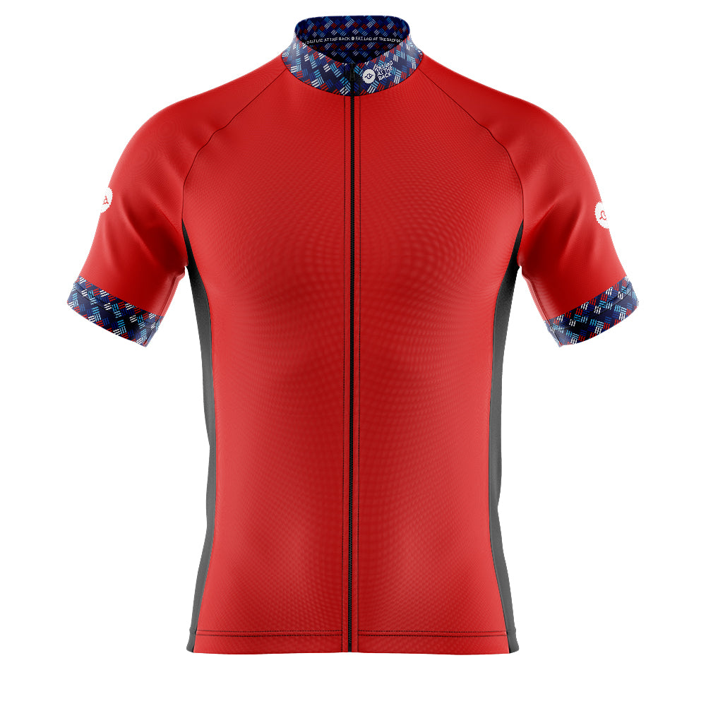 Mens Red Funky Cycling Jersey
