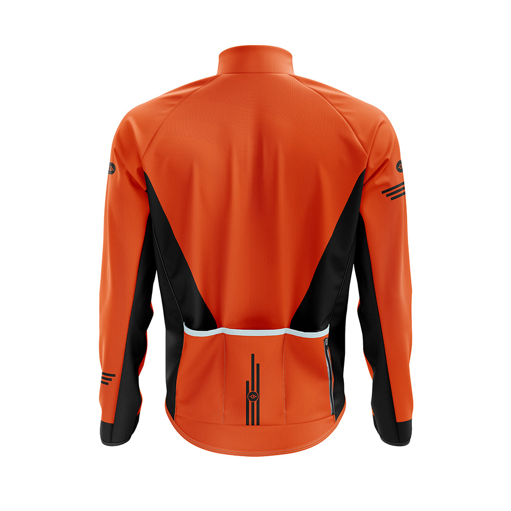 Mens Orange Cycling Winter Jacket