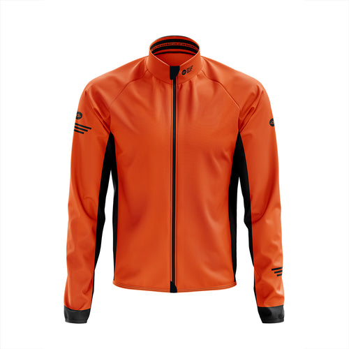 Big and Tall Mens Orange Winter Cycling Jacket
