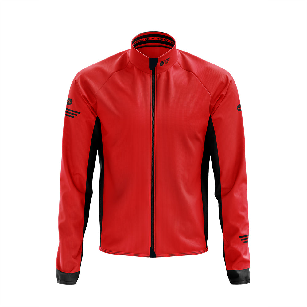 Mens Red Cycling Winter Jacket