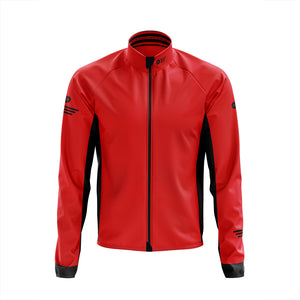 Big and Tall Mens Red Winter Cycling Jacket - Due October