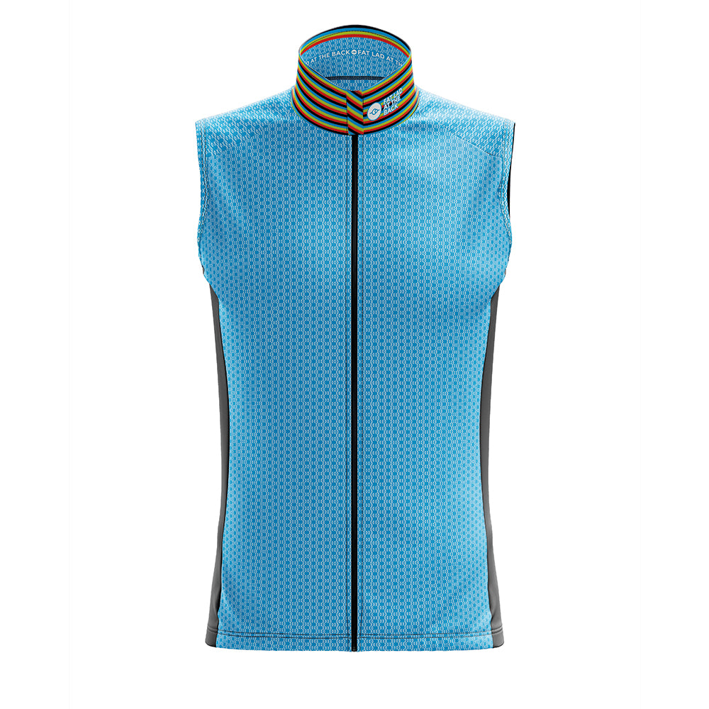 Mens Blue Oxo Cycling Gilet