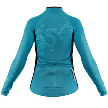 Load image into Gallery viewer, Women's Jade Oriental Heavyweight Thermal Long Sleeve Cycling Jersey