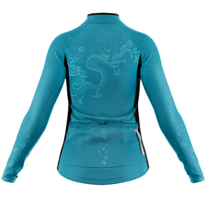 Women's Jade Oriental Heavyweight Thermal Long Sleeve Cycling Jersey