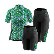 Load image into Gallery viewer, Women's Green Palm Padded Cycling Leggings