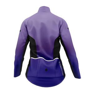 Women's Purple and Blue Graduated Winter Cycling Jacket