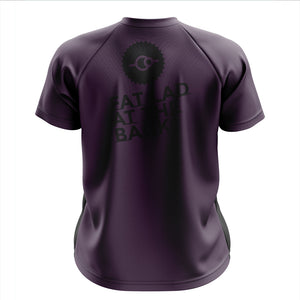 Mens Purple FLAB Mountain Bike Jersey