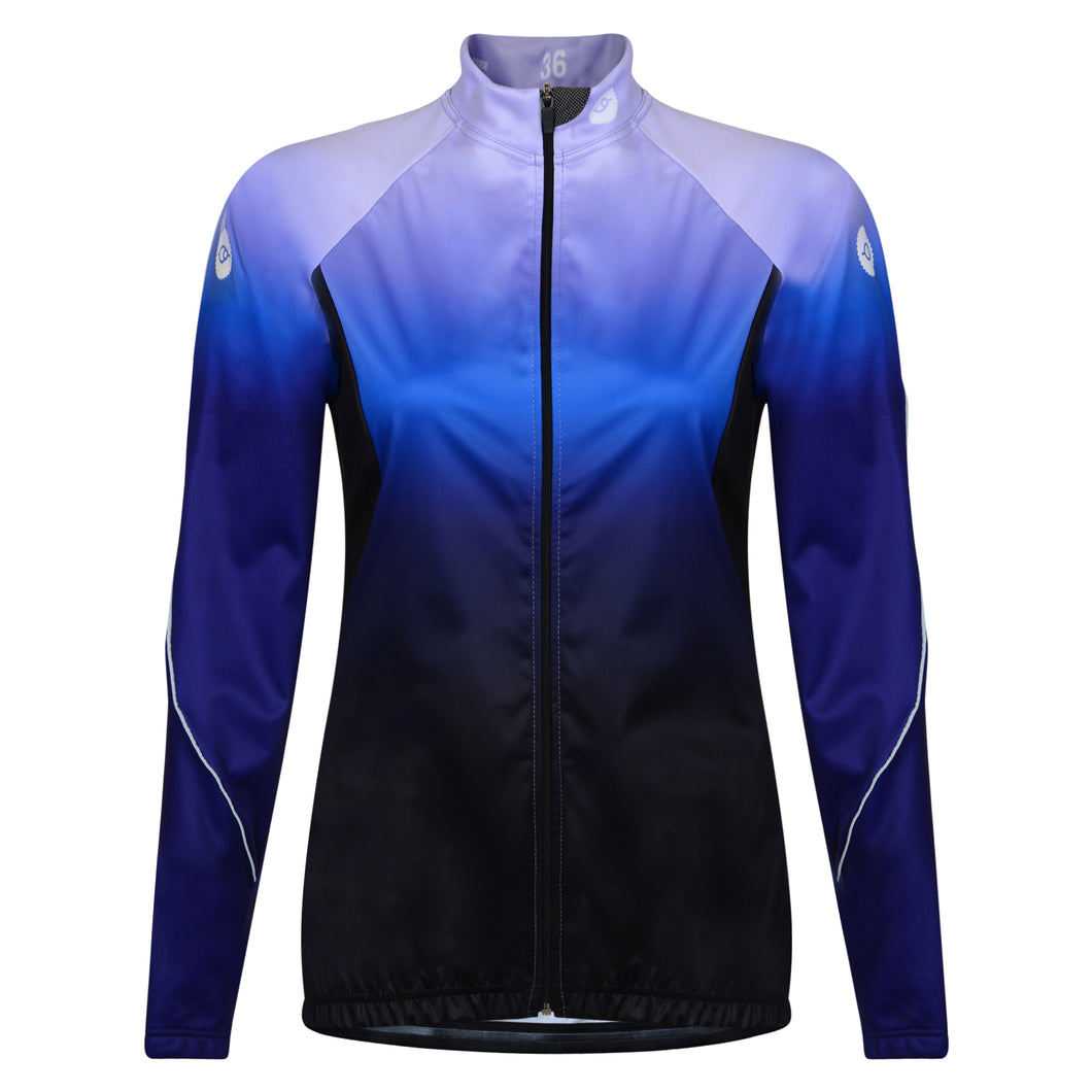 Women's Purple Stealth Windproof Cycling Jersey
