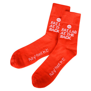 Put Y' Foot In It Red Cycling Socks