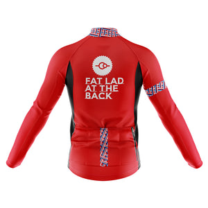 Mens Classic Red Windproof Cycling Jersey