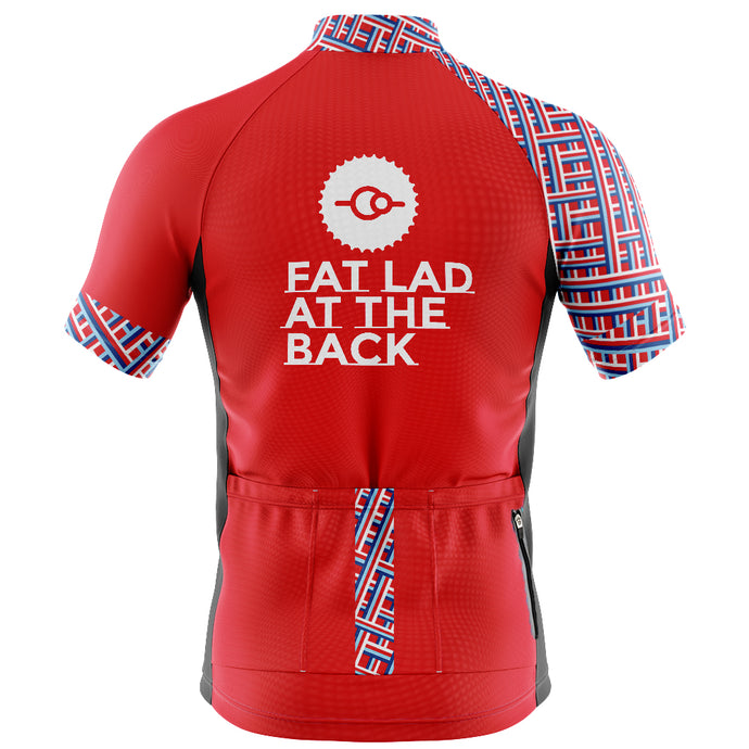 Mens Red Classic Cycling Jersey