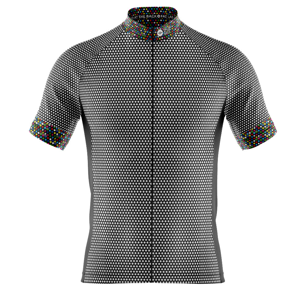 Mens Black Rubix Cycling Jersey