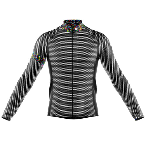 Mens Black Rubix Midweight Thermal Cycling Jersey