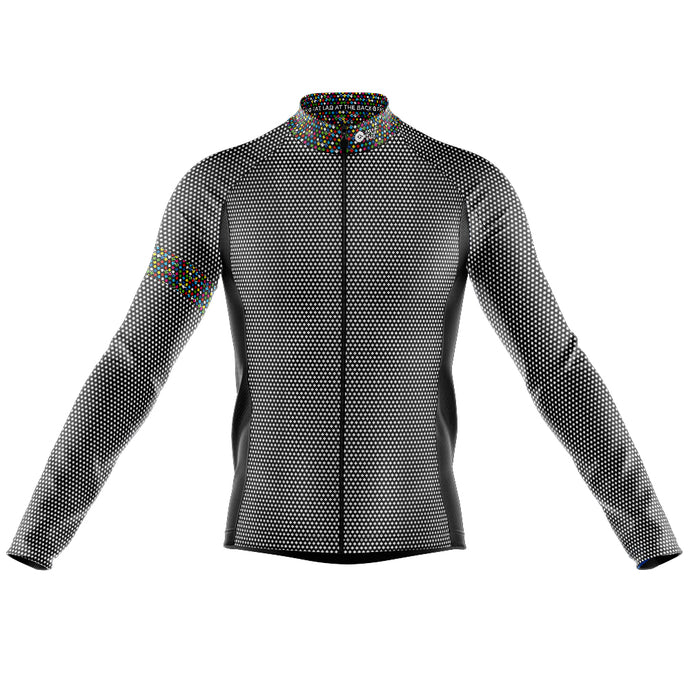 Big and Tall Mens Black Rubix Midweight Thermal Cycling Jersey