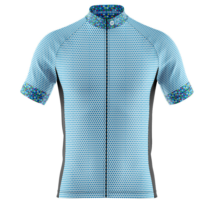 Mens Blue Rubix Cycling Jersey