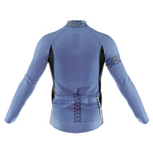 Load image into Gallery viewer, Mens Blue Rubix Midweight Thermal Cycling Jersey