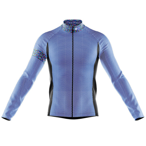 Mens Blue Rubix Midweight Thermal Cycling Jersey