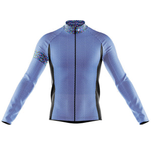 Big and Tall Mens Blue Rubix Midweight Thermal Cycling Jersey