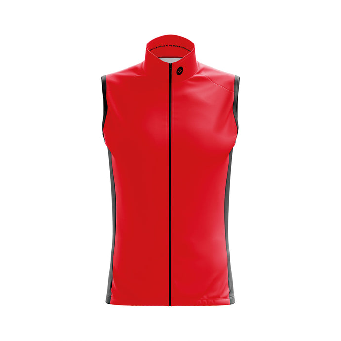 Mens Windy Cycling Gilet in Red - Due Early March