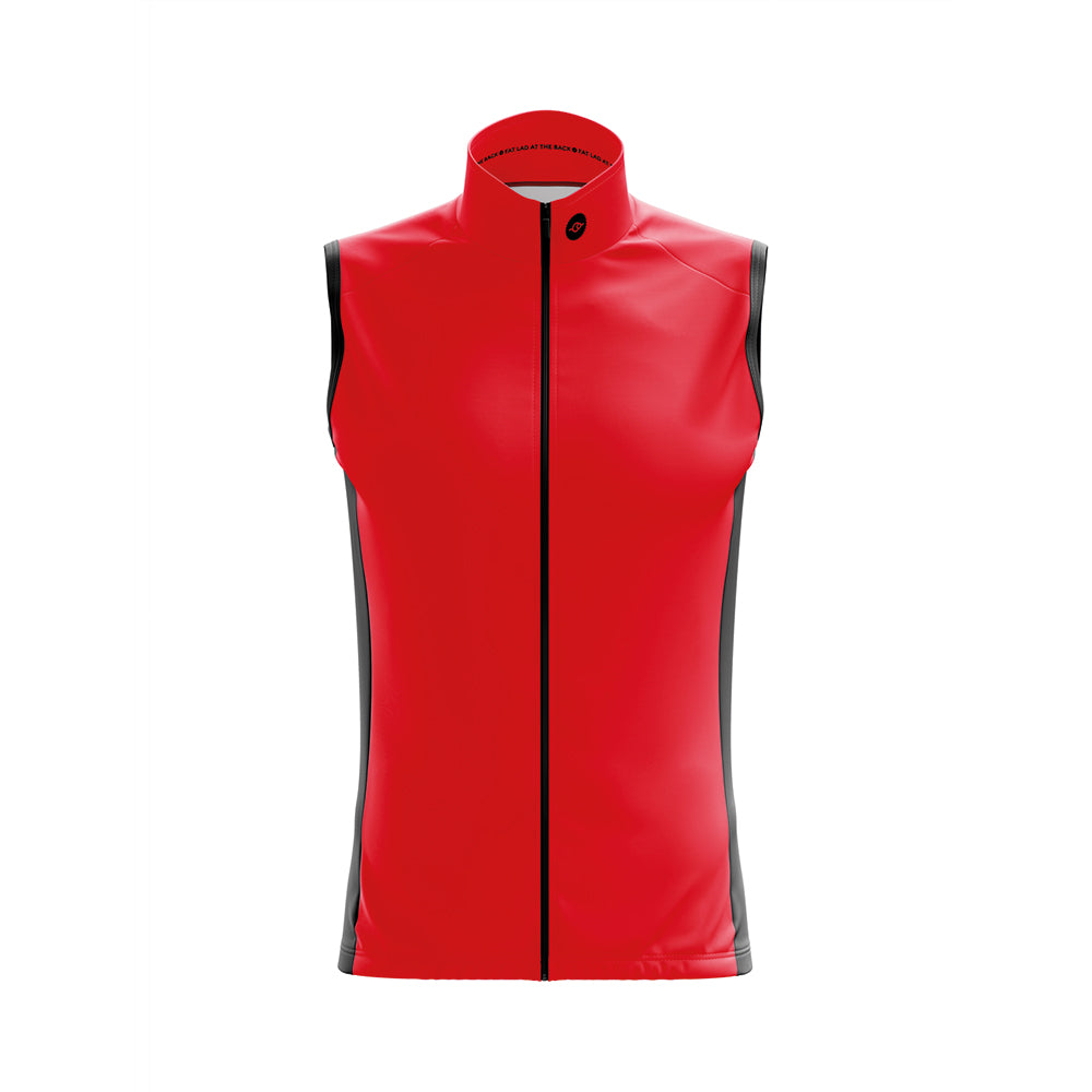 Mens Windy Cycling Gilet in Red