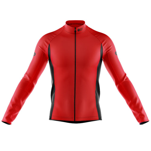 Mens Nesh Midweight Cycling Jersey in Red